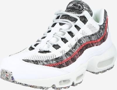 Nike Sportswear Baskets basses 'Air Max 95' en gris / rouge / blanc, Vue avec produit