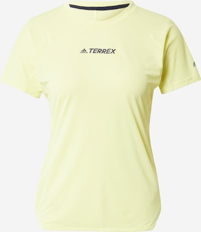 ADIDAS PERFORMANCE Funkcionalna majica | svetlo rumena / črna barva, Prikaz izdelka
