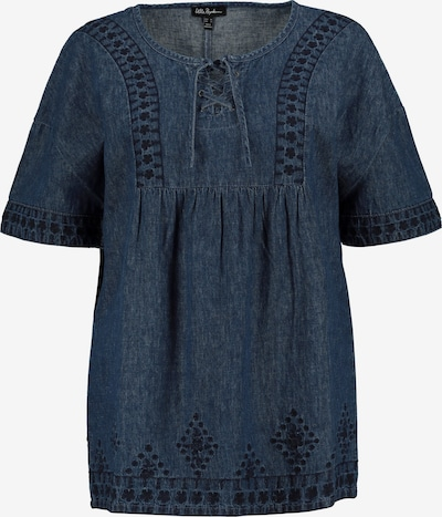 Ulla Popken Bluse in blue denim, Produktansicht