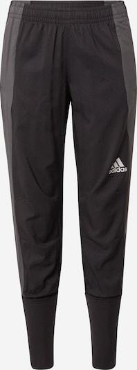 ADIDAS PERFORMANCE Sportbroek 'MARATHON' in de kleur Stone grey / Zwart / Wit, Productweergave