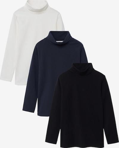 MANGO KIDS Shirt 'Turbo' in de kleur Marine / Zwart / Wit, Productweergave