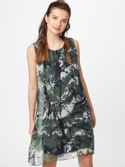 Cartoon Sommerkleid mit Print in dunkelblau / dunkelgrün, Modelansicht