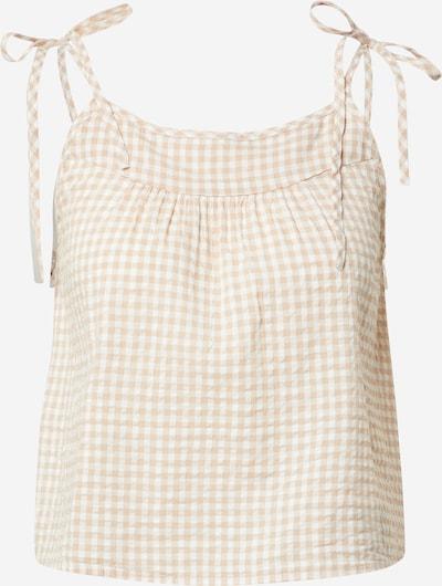 AERIE Schlafshirt 'Cami' in beige / weiß, Produktansicht