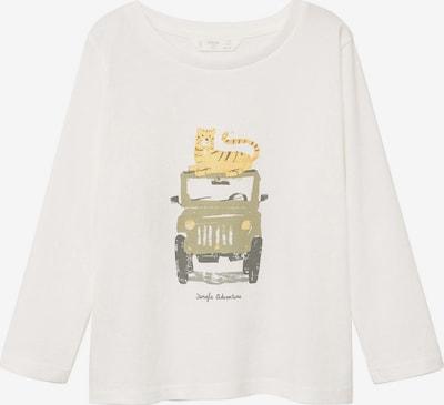 MANGO KIDS Shirt 'CAR' in mischfarben / weiß, Produktansicht