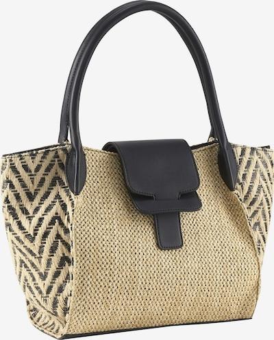 heine Tasche in hellbraun / schwarz / naturweiß, Produktansicht