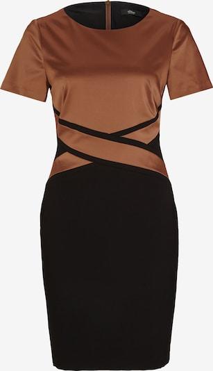 s.Oliver BLACK LABEL Kleid mit gekreuzter Blende in braun, Produktansicht