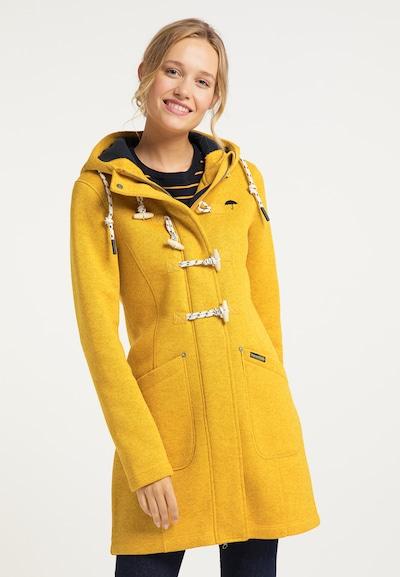 Schmuddelwedda Övergångskappa i gul, På modell