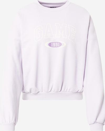 Gina Tricot Sweatshirt 'Eve' i lilla / hvid, Produktvisning