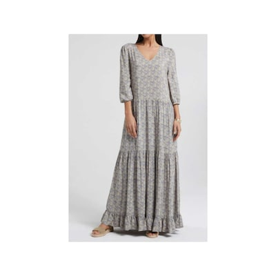 YAYA Oversized jurk in de kleur Grijs / Donkergrijs, Modelweergave