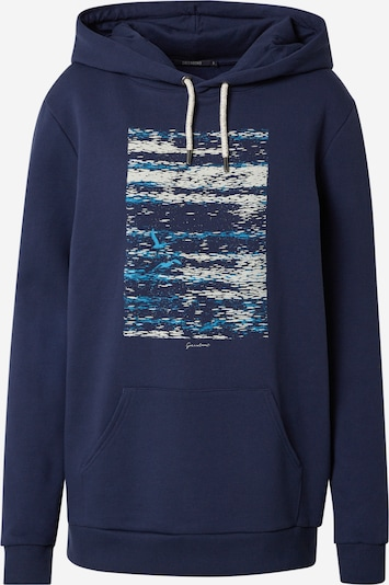 GREENBOMB Sweatshirt 'Animal Seagulls Sea - Chipper' in navy / aqua / weiß, Produktansicht