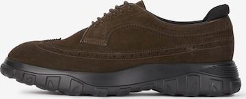 Boggi Milano Обувки с връзки в кафяво