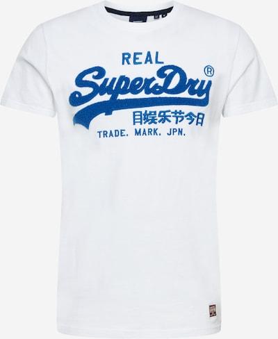 Superdry T-Shirt in royalblau / weiß, Produktansicht