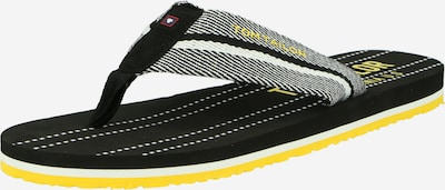 TOM TAILOR Séparateur d'orteils en jaune / noir / blanc, Vue avec produit