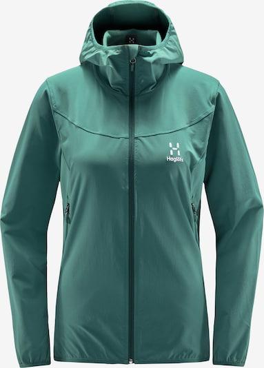 Haglöfs Sportjas 'Natrix' in de kleur Donkergroen / Wit, Productweergave