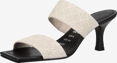 BRONX Pantolette in schwarz / weiß, Produktansicht
