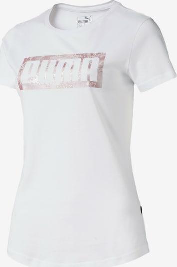 PUMA Graphic Logo Damen T-Shirt in weiß, Produktansicht