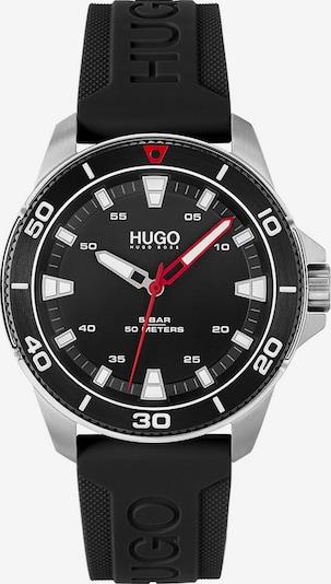 HUGO Analoguhr in rot / schwarz / silber, Produktansicht