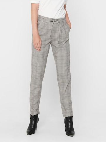 ONLY Élére vasalt nadrágok 'Poptrash' - szürke