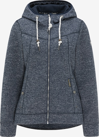 Schmuddelwedda Fleece jas in de kleur Marine / Wit, Productweergave
