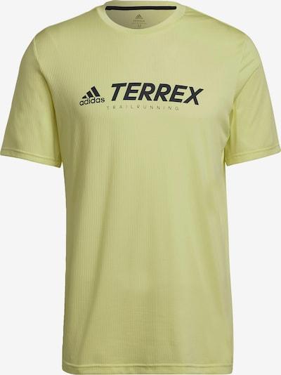 adidas Terrex Functioneel shirt in de kleur Geel / Zwart, Productweergave