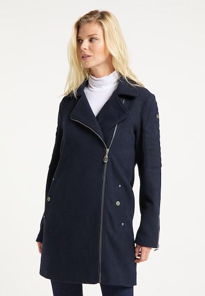 DreiMaster Vintage Wintermantel in nachtblau, Modelansicht