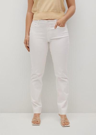 VIOLETA by Mango Jeans 'julie' in weiß, Modelansicht