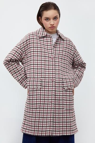 Finn Flare Between-Seasons Coat in Dark pink, View model