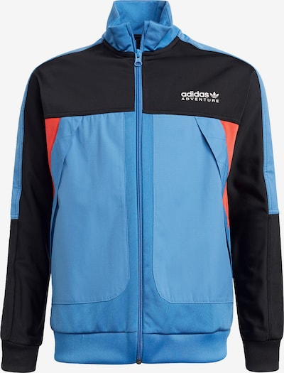 Giacca di felpa ADIDAS ORIGINALS di colore blu chiaro / arancione / nero, Visualizzazione prodotti