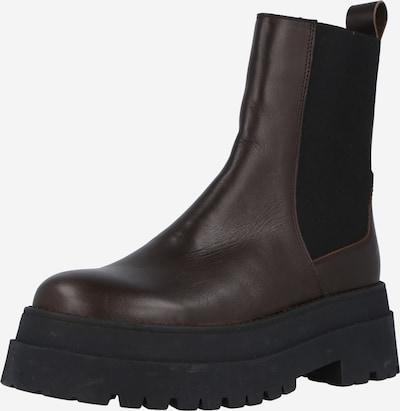 LeGer by Lena Gercke Chelsea Boots 'Joselyn' in kastanienbraun / schwarz: Frontalansicht