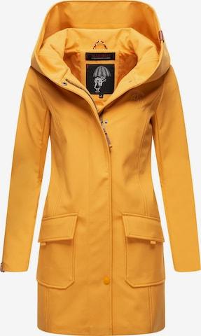 MARIKOO Between-Seasons Coat 'Mayleen' in Yellow