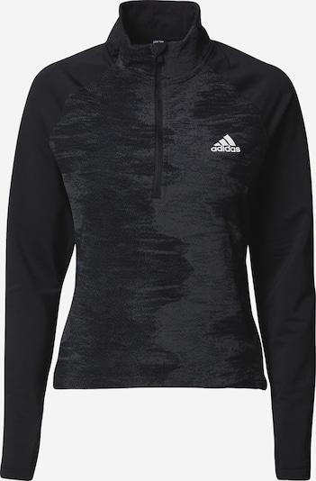 ADIDAS PERFORMANCE Sweatshirt in grau / schwarz / weiß, Produktansicht
