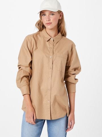 Cotton On Bluse in Braun