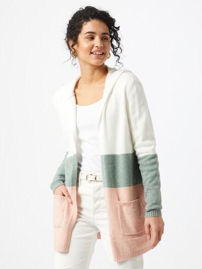 ONLY Kardigan 'LESLY' w kolorze nakrapiany zielony / mieszane kolory / stary róż / offwhitem, Podgląd na modelu(-ce)