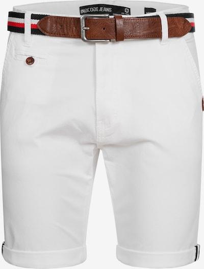 INDICODE JEANS Chino 'Creel' in de kleur Wit: Vooraanzicht