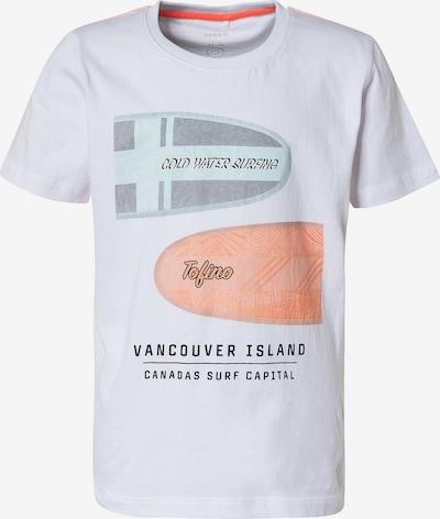 NAME IT T-Shirt en gris / menthe / pêche / noir / blanc, Vue avec produit
