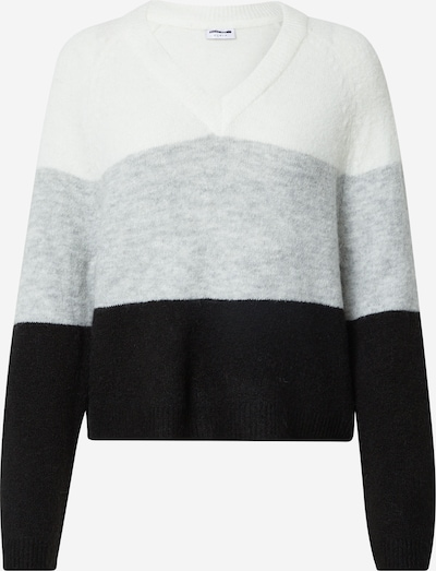 Noisy may Pullover 'Mimi' in grau / schwarz / weiß, Produktansicht
