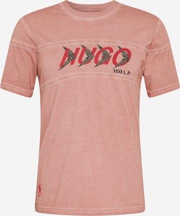 HUGO Тениска 'Dappel' в розово