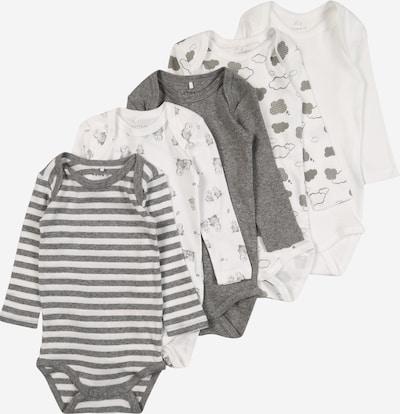 NAME IT Dječji bodi u siva melange / bijela, Pregled proizvoda