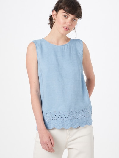 ESPRIT Blusentop in hellblau, Modelansicht