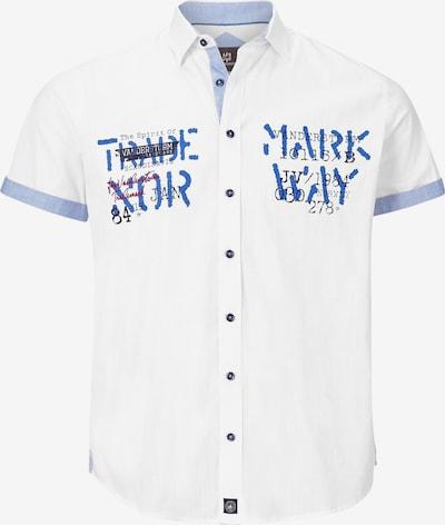 Jan Vanderstorm Hemd 'Jarik' in taubenblau / schwarz / weiß, Produktansicht