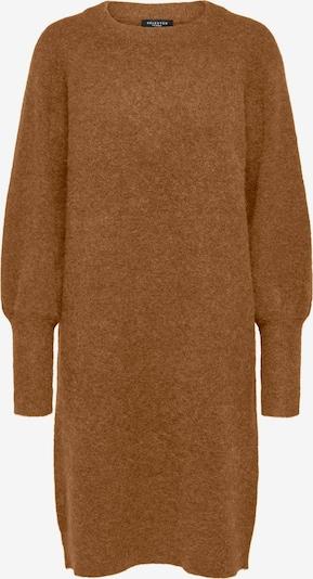 SELECTED FEMME Pletena haljina 'Sif' u smeđa melange, Pregled proizvoda