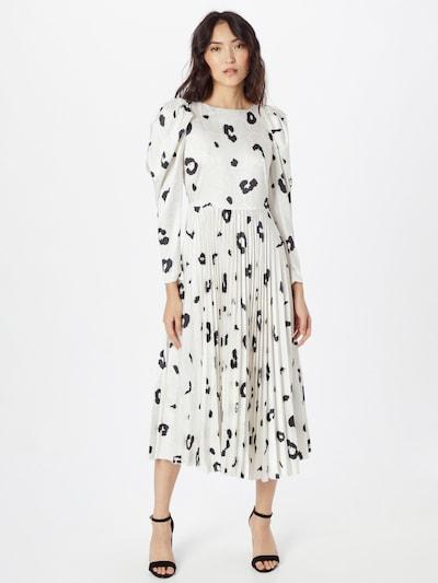 Rochie Closet London pe negru / alb murdar, Vizualizare model