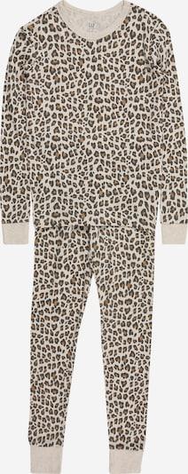 GAP Pyjama en beige / marron / noir, Vue avec produit