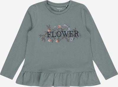 NAME IT T-Shirt 'NELLY' en gris / vert foncé / lilas / orange, Vue avec produit