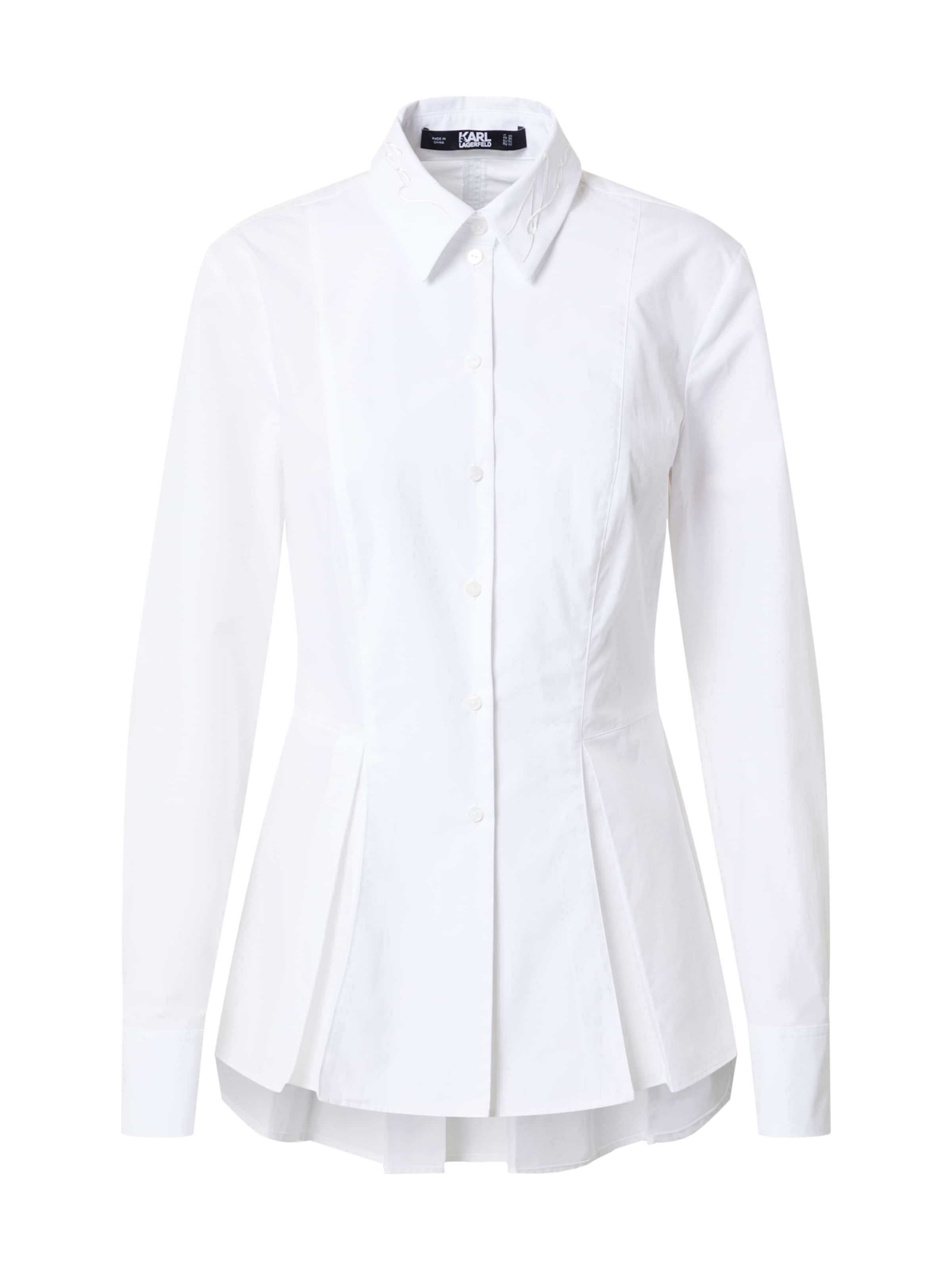Karl Lagerfeld Bluse in weiß