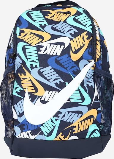 Rucsac 'Brasilia' Nike Sportswear pe navy / turcoaz / albastru fum / galben / alb, Vizualizare produs