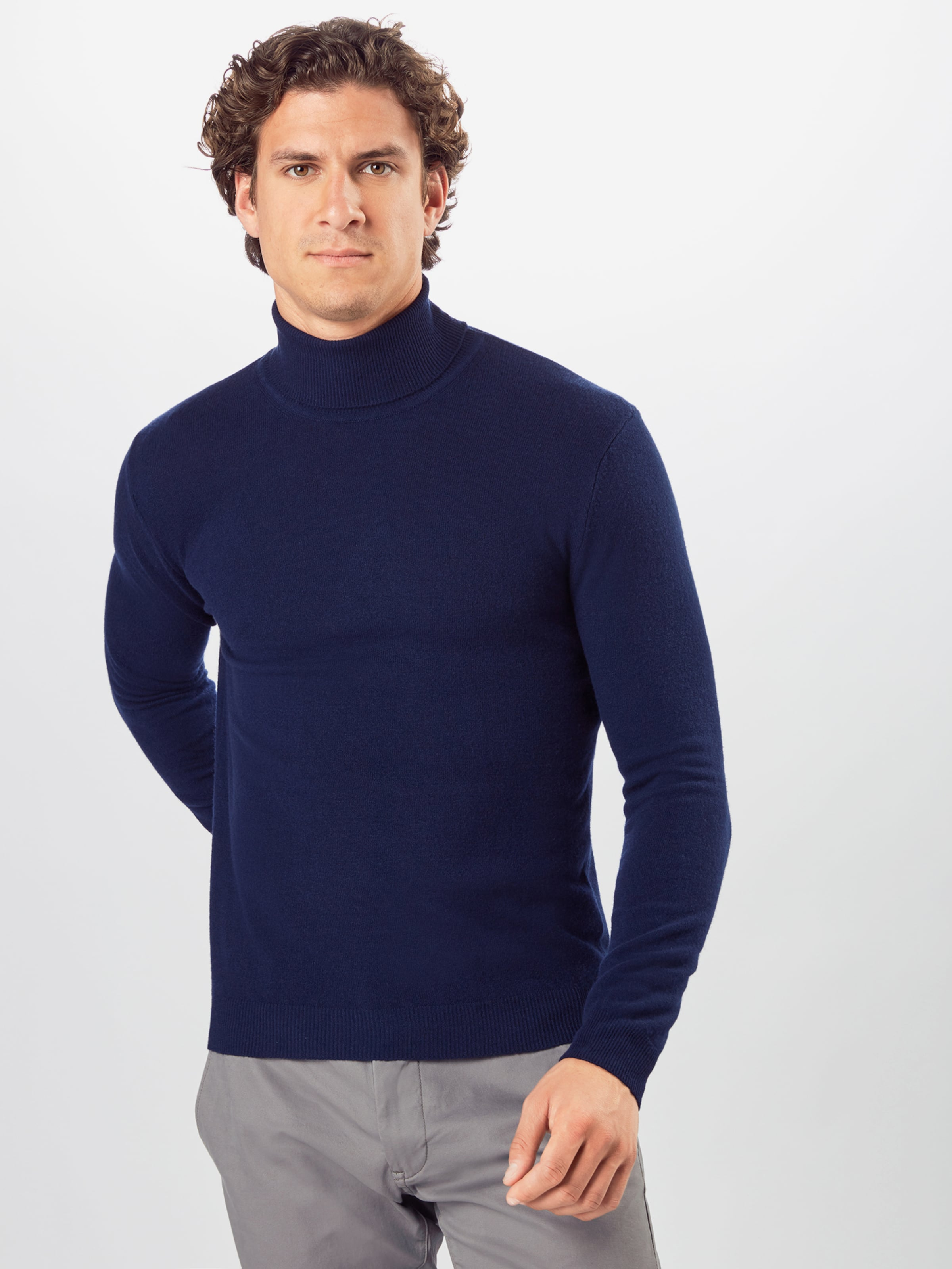 UNITED COLORS OF BENETTON Pullover 'Maglia Ciclista' in dunkelblau Wolle UCB0005003000001