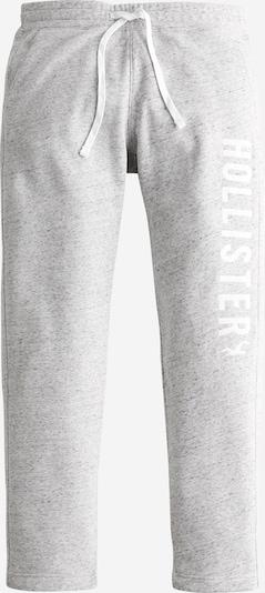 HOLLISTER Kalhoty - šedý melír / bílá, Produkt