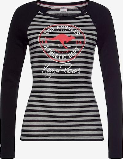 KangaROOS Shirt in grau / rot / schwarz / weiß, Produktansicht