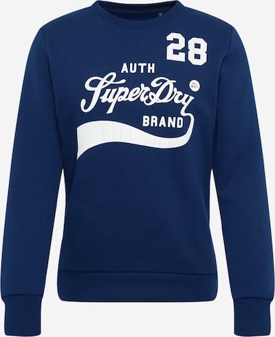 Superdry Sweatshirt in de kleur Donkerblauw / Wit, Productweergave